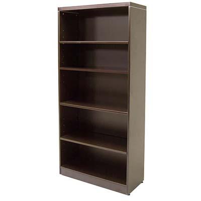 """72"""" tall Espresso laminate bookcase"""