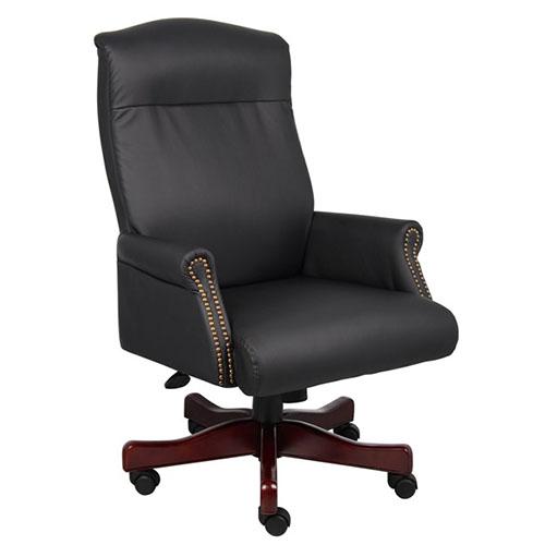 Executive Chair with Brass Nail-Head Trim B970
