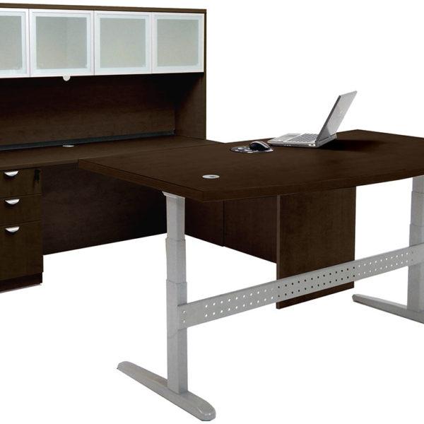 L Shape Sit & Stand Lift Desk
