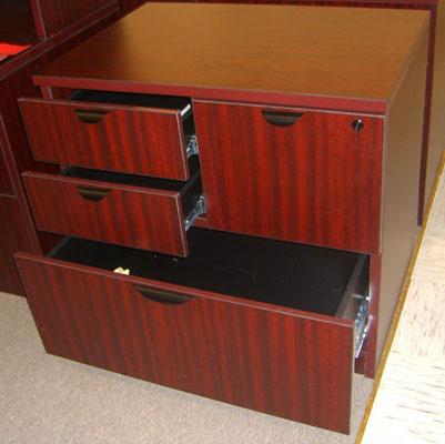 Mahogany Combo File Cabinet