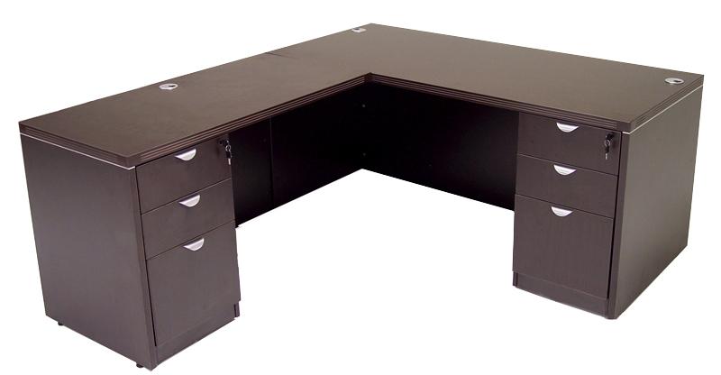 Espresso L Shaped Desk Ofco Office, Espresso Office Desk