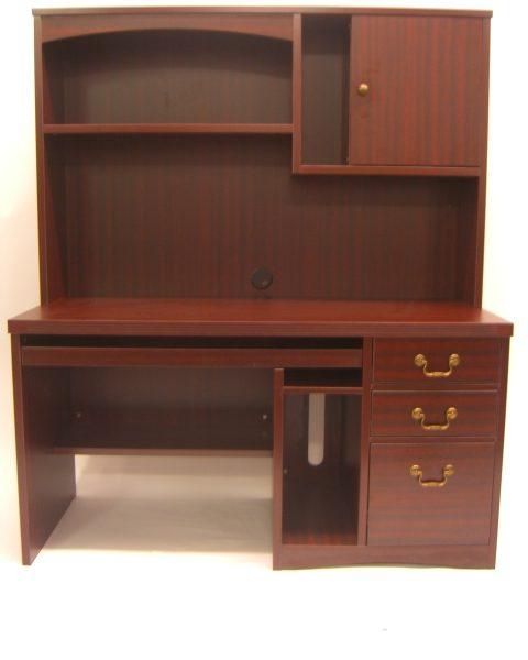 Mahogany Computer Desk Hutch