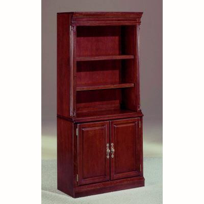 "72"" Mahogany Bookcase with Storage Cabinet"