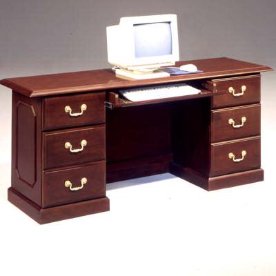 Traditional Styling Computer Credenza Mahogany