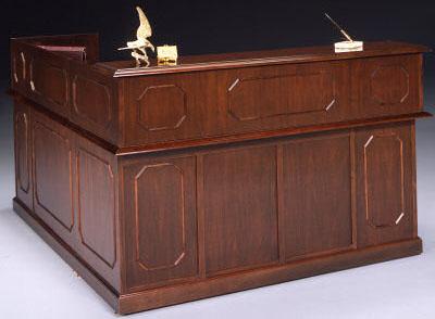 DMI Governors Series Mahogany Reception Desk | OFCO Office Furniture
